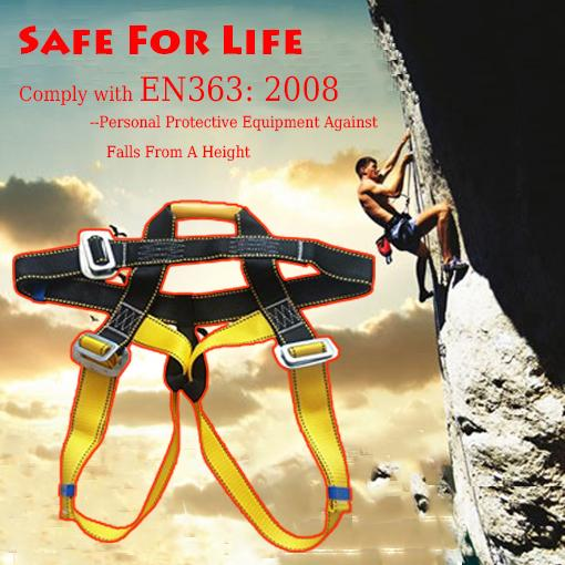 Professional rock climbing harness safety belt, rappel rescue seat belt, half body seat safety belt