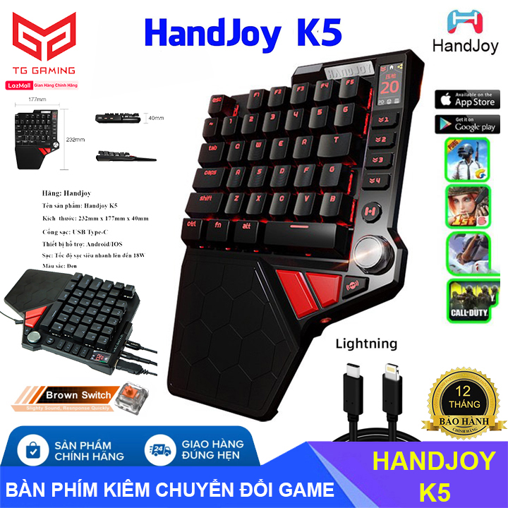 Hình ảnh HANDJOY K5 | Bàn phím cơ Handjoy K5 kiêm bộ chuyển đổi chơi PUBG và các game FPS trên Androi, iOS , PS 4 Pro, Xbox One, Nintendo Switch - Hãng phân phối chính thức