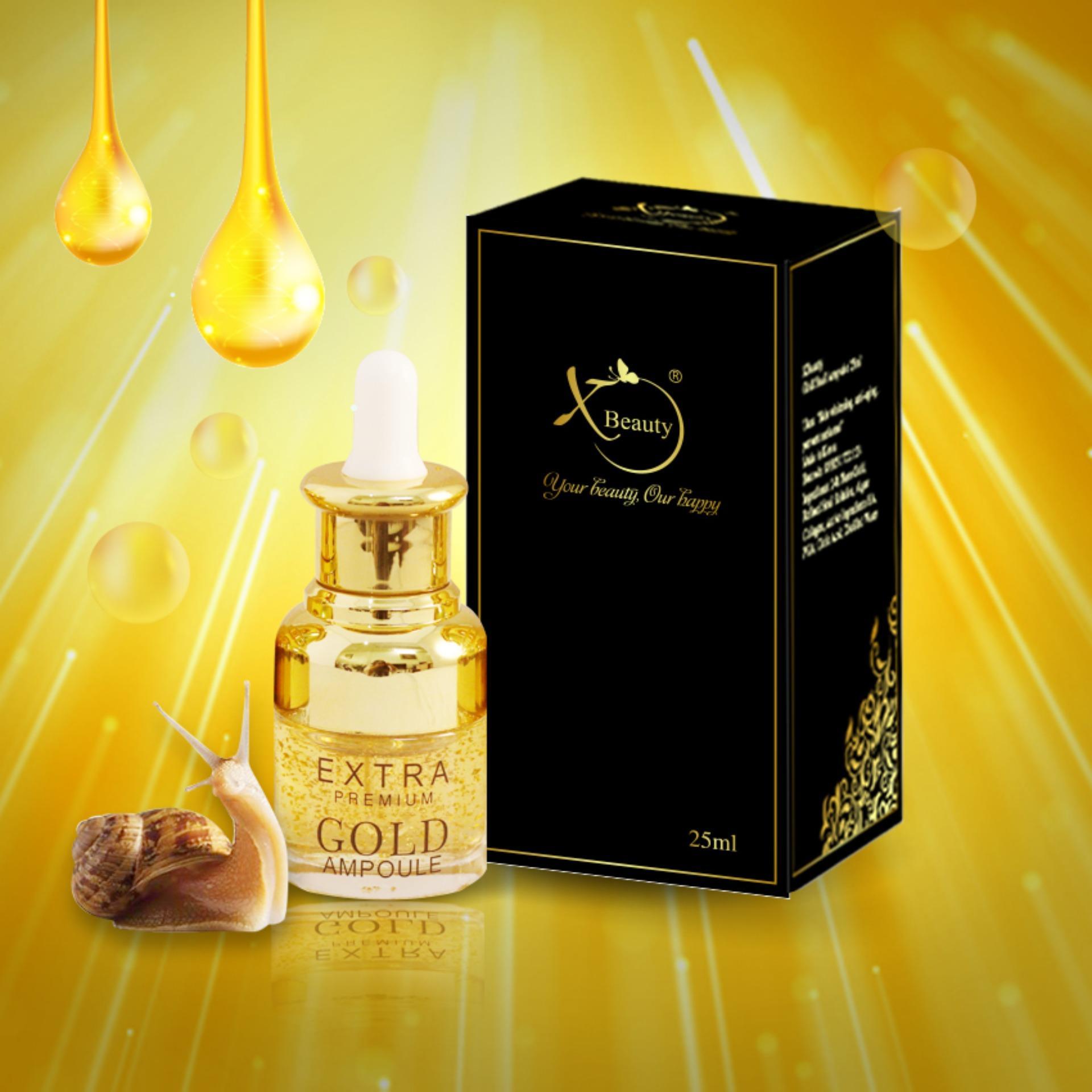 Serum Ốc Sên XBeauty Gold Snail Ampoule 25ml/20ml Hàn Quốc - Serum Ốc Sên Gold Perfect skin care chăm sóc da hoàn hảo XBeauty Gold Snail Ampoule có 2 dung tích 20ml và 25ml