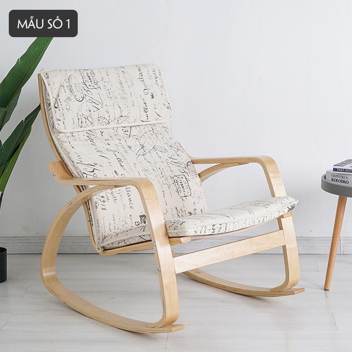 ghế thư giãn, ghế bập bênh, ghế giải trí văn phòng, ghế ngủ trưa,  Ghế poang thư giãn ghế poang ngắn khung gỗ bạch dương chắc chắn an toàn