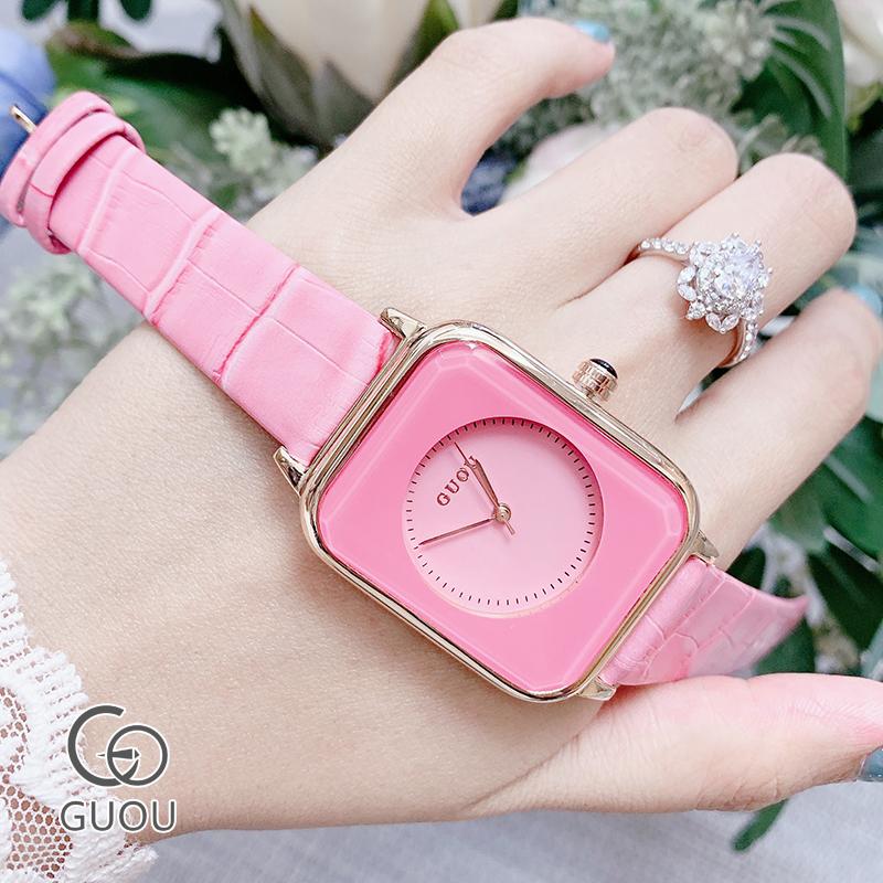Đồng hồ Nữ GUOU Dây Mềm Mại đeo rất êm tay, Chống Nước Tốt, Bảo Hành Máy 12 Tháng Toàn Quốc 1