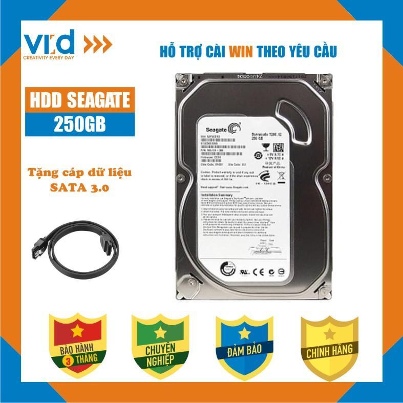 Ổ cứng HDD 250GB Seagate - Tặng cáp sata 3.0 - Hàng tháo máy đồng bộ - Bảo hành 3 tháng