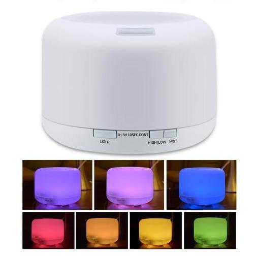 máy xông tinh dầu, máy phun sương tạo ẩm, khuếch tán tinh dầu thế hệ mới trụ tròn 300ml, của hãng Aroma 7 màu đèn led , Tạo đô ẩm cho phòng điều hòa , tự động ngắt khi hết nước làm quà tặng rất đáng y