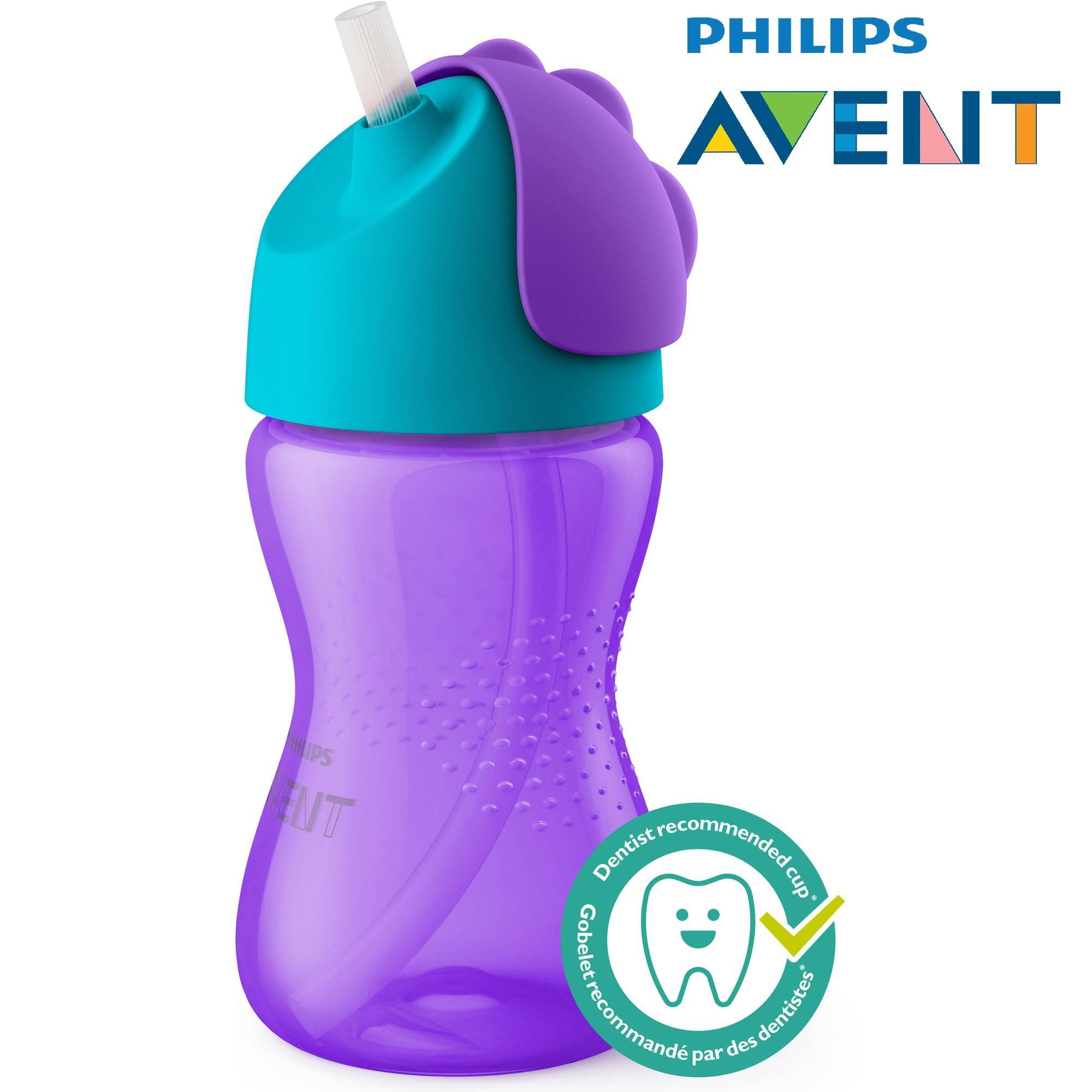 Bình nước tập uống ống hút Philips Avent 300ml (Xách tay Mỹ)