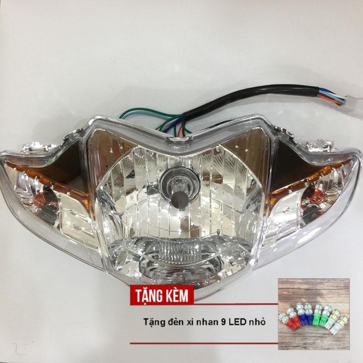[QUÀ CHẤT - TẶNG ĐÈN XI NHAN 9 LED] Đầu đèn pha xe WAVE S110, RSX bóng tròn siêu sáng