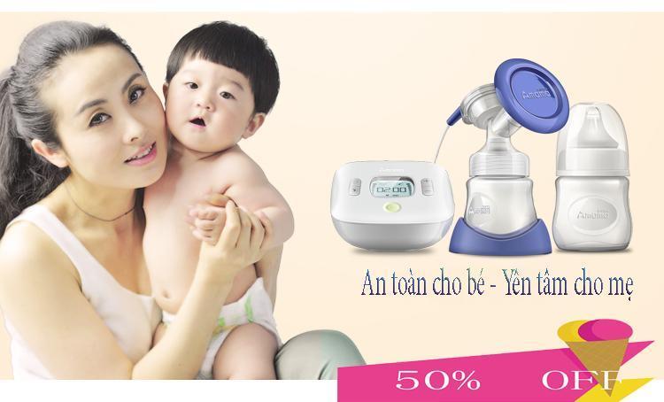 Máy hút sữa mẹ Amama-Thiết kế cho sữa chảy trực tiếp từ phễu silicon vào bình sữa-giảm cơn đau tức ngực do đầy sữa-An toàn cho mẹ và bé-,sản phẩm không thể thiếu đối với mẹ thông thái sale sốc 50%, giao hàng toàn quốc tại May Store 8