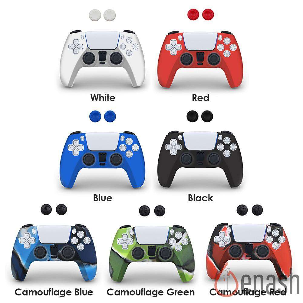 【Hot Saling】PS5 SONY Playstation 5 Silicone Protective Cover Joystick Case For SONY Playstation 5 PS5 Game Controller Skin Guard