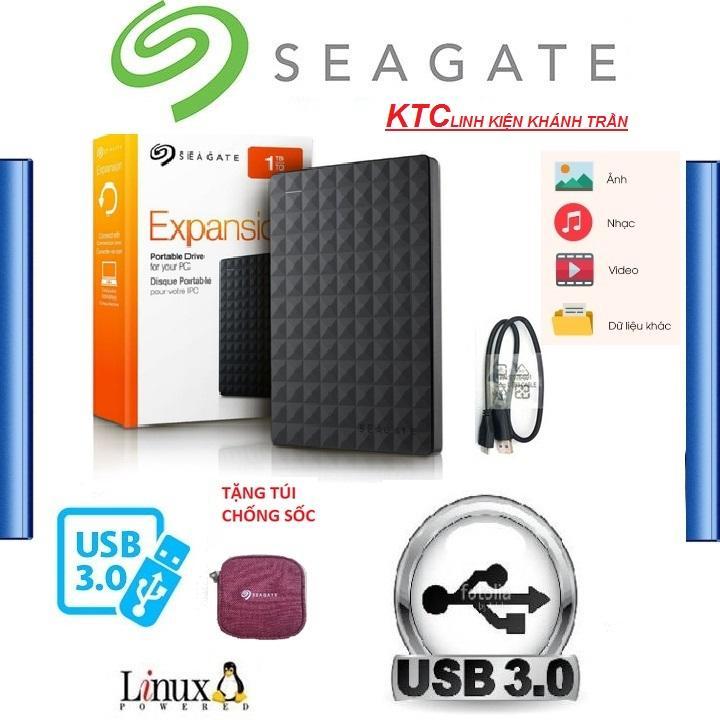 Ổ Cứng Di Động 250GB 3.0 Seagate Expansion - HÀNG NHẬP KHẨU - Tặng túi chống sốc