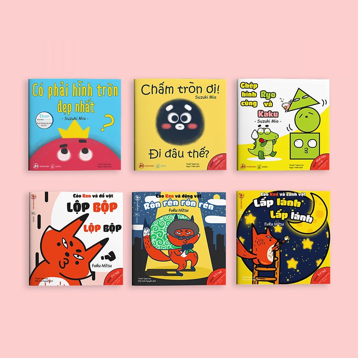 Combo 2 bộ Ehon Hình khối và Âm thanh - Cho bé 0-6 tuổi thông minh và sáng tạo / Tặng cuốn Những Câu Chuyện Kinh Điển