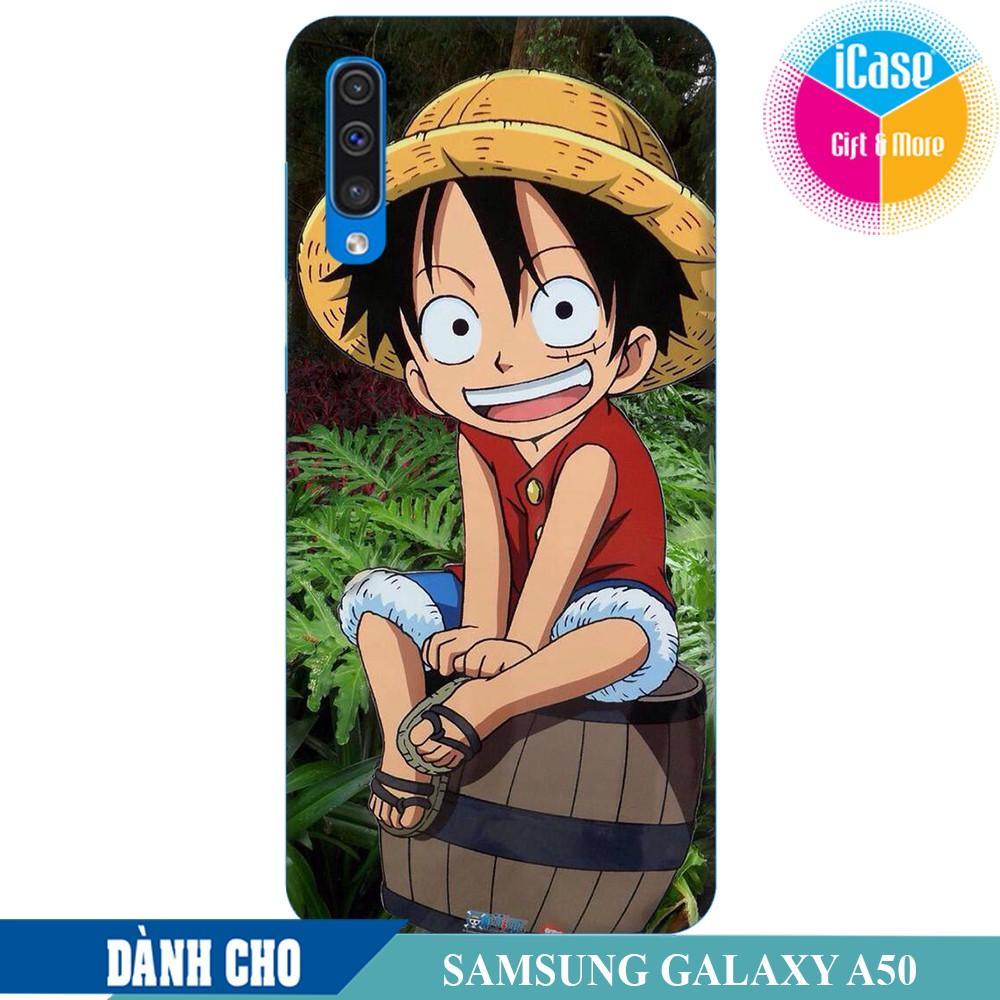 Ốp lưng nhựa dẻo dành cho Samsung Galaxy A50 in hình Luffy