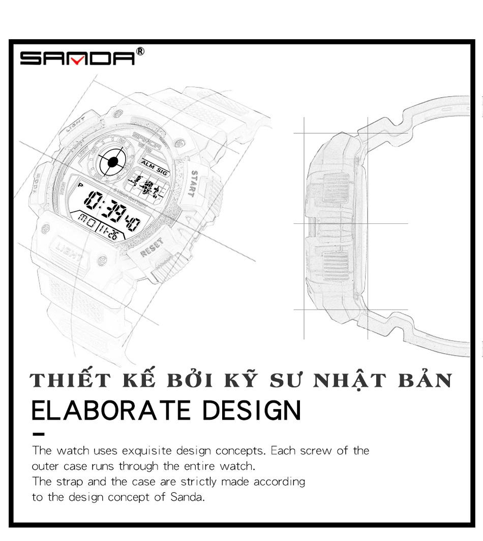 Đồng hồ Nam SANDA JAPAN Chống Nước Siêu Bền, Thương Hiệu Cao Cấp từ Nhật Bản 14