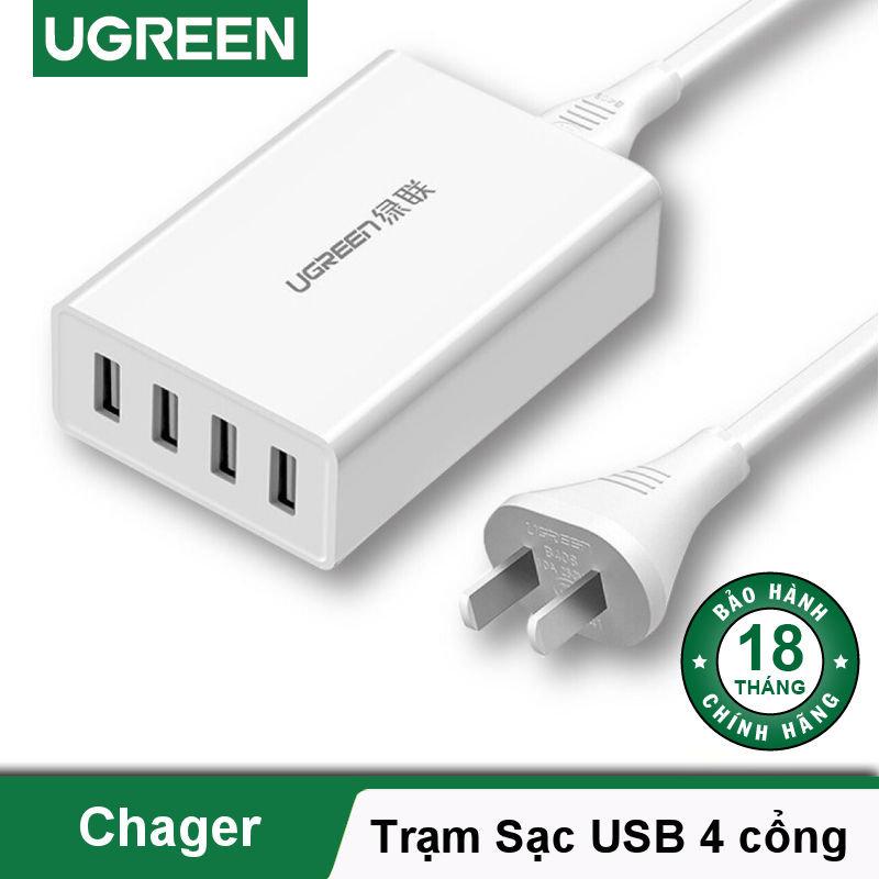 Trạm sạc 4 cổng USB, hỗ trợ sạc nhanh QC/FCP UGREEN CD102