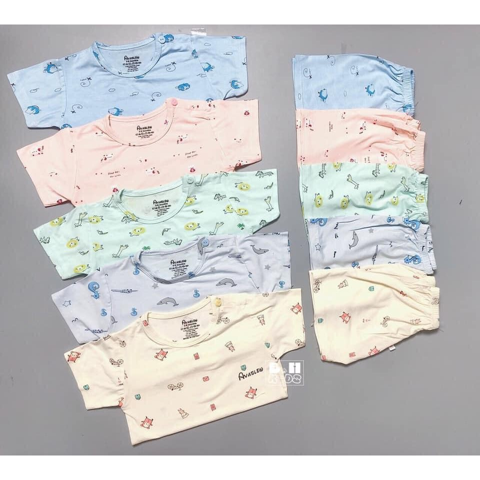 Quần áo trẻ em, Bộ Cộc Tay Cho Bé. Bộ AVASLEW Cho Bé Trai Bé Gái Chất Thun Lạnh Siêu Mát.