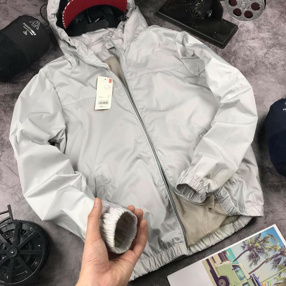 Áo khoác gió nam - áo khoác dù nam màu đen kiểu dáng cho vào túi nhỏ gọn tiện dụng chất liệu gió cao cấp chống mưa nhẹ