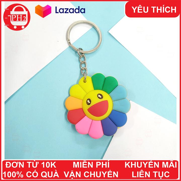 Hình ảnh Móc khóa hoa mặt trời Kaikai kiki ✓ móc khóa cute ✓ móc khóa xe dễ thương ✓ móc chìa khóa xe, túi sách, balo đều hợp✓móc khóa cặp đi học✓ Phát Huy Hoàng