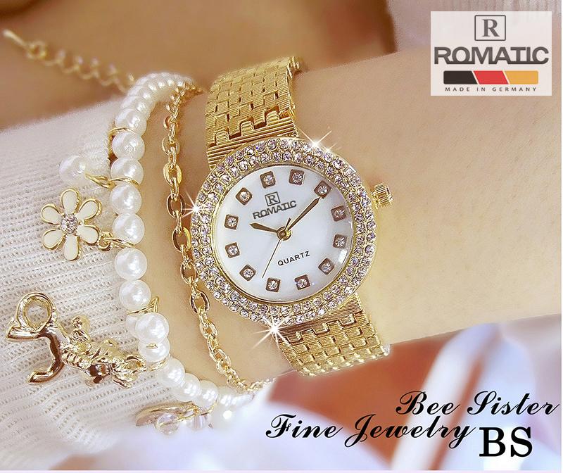 Đồng hồ nữ ROMATIC Mặt Xà Cừ Nhỏ Xinh Sang Trọng - Máy Nhật cao cấp - Tặng Kèm Pin ĐH Dự Phòng 2
