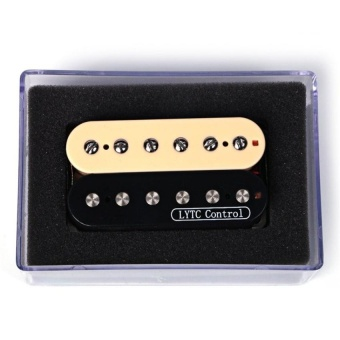1 Pcs Black With Yellow Humbucker Double Coil Electric Guitarpickups For The Neck Pickup - intl