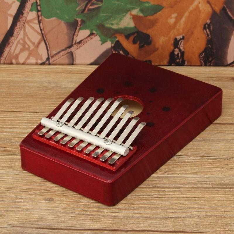10 Keys Kalimba Mbira Likembe Pine Thumb Piano Finger Sanza Musical Instrument - intl