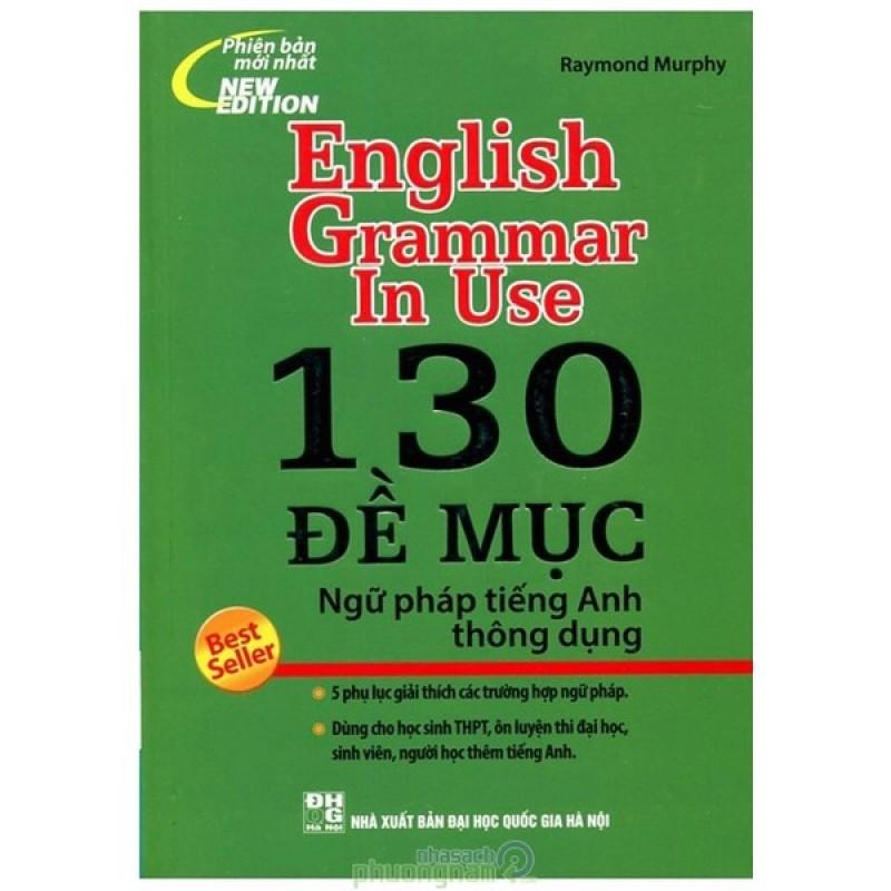 Mua 130 Đề Mục Ngữ Pháp Tiếng Anh Thông Dụng (Bìa xanh)