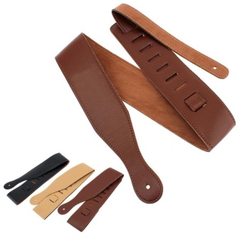 1pcs Adjustable Guitar Strap PU Leather 110 -130cm Length 3 ColorsOptional - intl