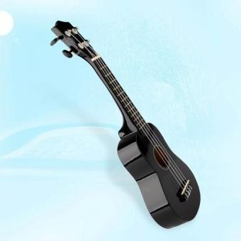 21 Acoustic Soprano Hawaiian Guitar 12 Frets Ukulele Ukeinstrument Wood Black - intl