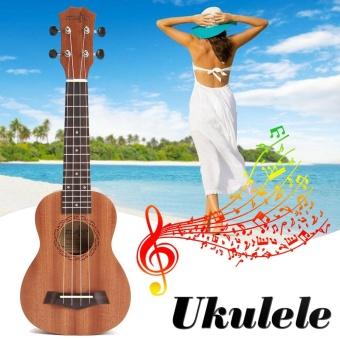 "21"" Soprano Ukulele Uke 4 String Hawaiian Guitar 15 Frets Musical Instrument New - intl"