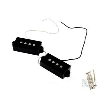 2Pcs 4 String Noiseless Pickup Black for Precision P BassReplacement - intl
