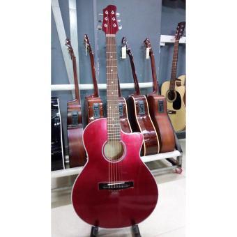 Acoustic guitar DVE85 đỏ mận + Tặng kèm phụ kiện