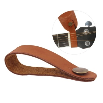 Acoustic Guitar Neck Strap Button Headstock Adaptor Synthetic Leather - intl