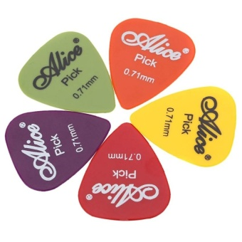 Alice Ap-P 20Pcs 0.71Mm Smooth Abs Guitar Picks Plectrums - intl