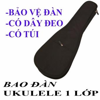 Bao Đàn Ukulele 1 lớp dù có dây đeo (Loại 1)
