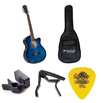 Bộ Đàn Guitar Acoustic Vines VA3910BLS + Bao đàn guitar 03 lớpSOL.G + Capo PBA05BK + Máy lên dây PD-JT30 và Móng gảy Dunlop 4180