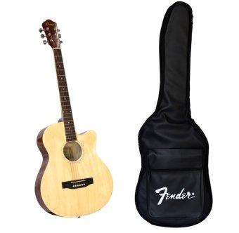 Bộ đàn guitar acoustic Vines VA3910N + Bao đàn guitar 03 lớp SOL.G