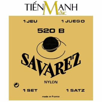 Bộ dây đàn cổ điển Classic Guitar Savarez Low Tension 520B(Traditional White Card Nylon String Sets)