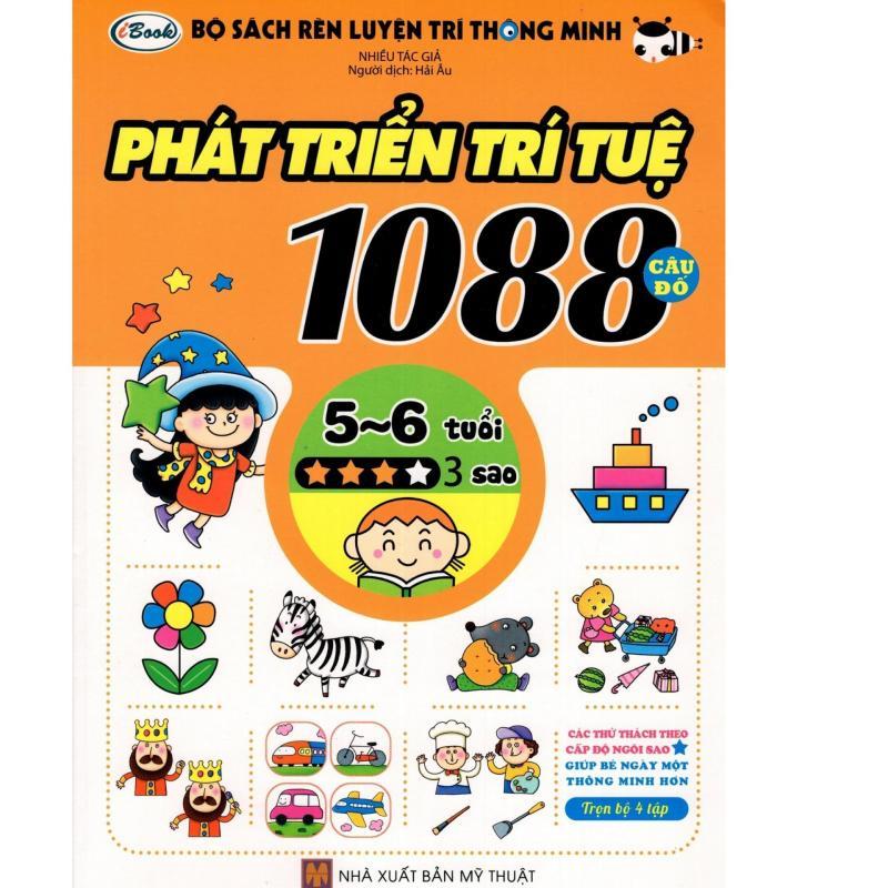 Mua Bộ Sách Rèn Luyện Trí Thông Minh - Phát Triển Trí Tuệ 1088 Câu Đố - Dành Cho Trẻ Từ 5 Đến 6 Tuổi (Tập 3)