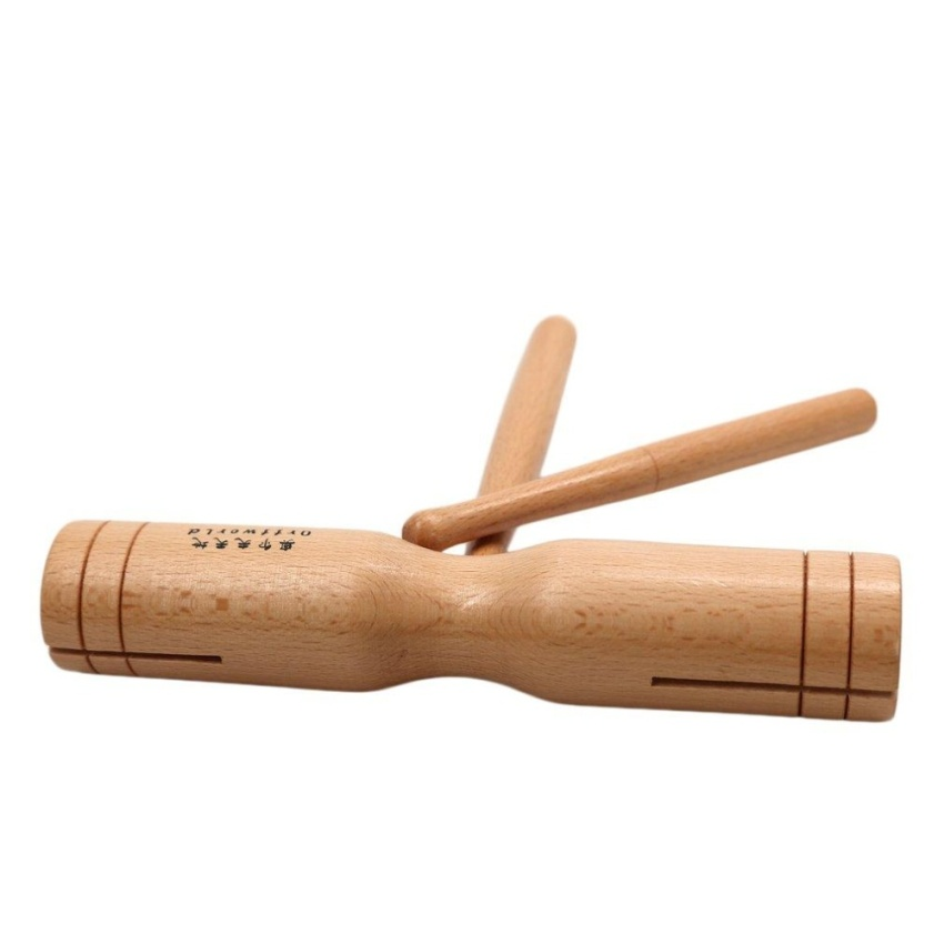 Cheer beech wood double tone block percussion wooden crow