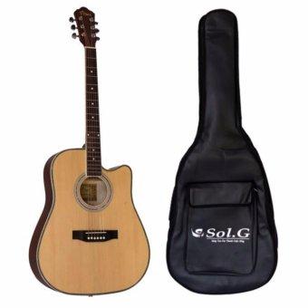 Combo đàn guitar Vines 4146N+ Bao đàn 3 lớp