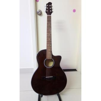 Đàn guitar Acoustic Việt Nam DVE70J (Nâu đen) + Tặng phụ kiện(Nâu)