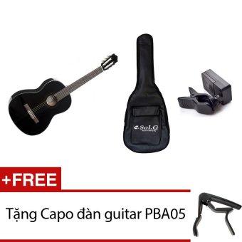 Đàn Guitar Yamaha C40BL (Đen) + Bao đàn Guitar Sol.G 03 lớp + Máylên dây JT10 + Tặng Capo đàn guitar PBA05
