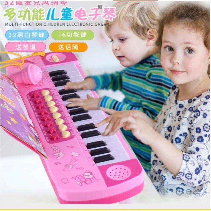 Đàn Organ có míc giúp bé phát triển mẫu mới nhất (Hồng)