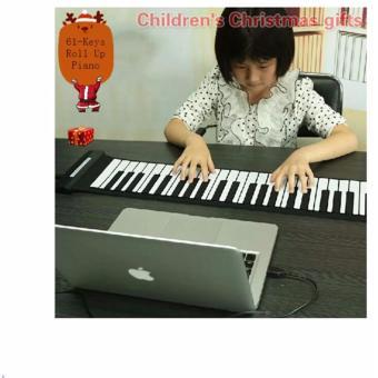 Đàn piano điện tử bàn phím cuộn dẻo 49 keys Loại 1 Công nghệ mới2017 Loại 1 (trắng) + Móc khóa thông...