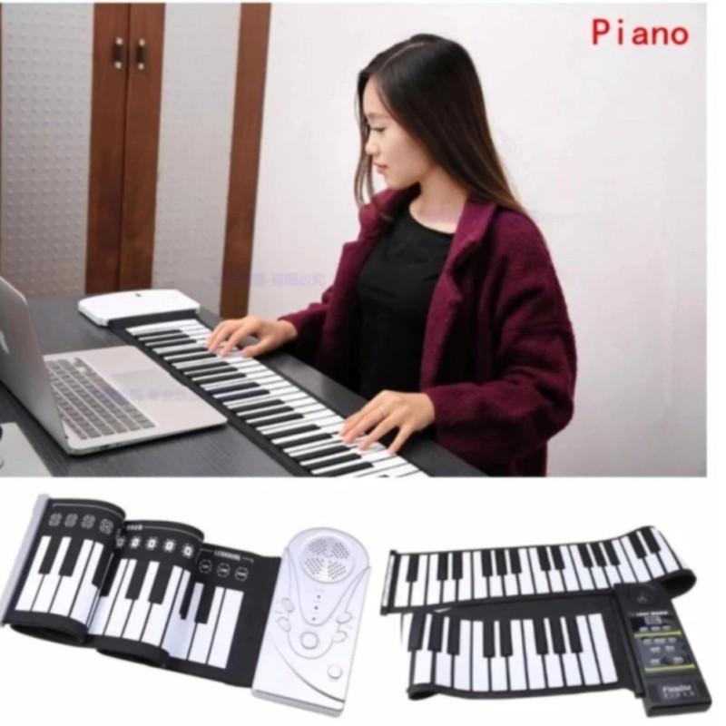 Đàn piano điện tử bàn phím cuộn dẻo 49 keys (Trắng) Loại 2018  - Hàng Nhập Khẩu Loại 1 Cao Cấp