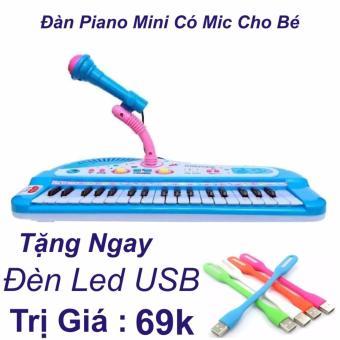 Đàn Piano Mini Có Míc Cho Bé Chất Lượng Âm Thanh Hay Loại Mới 2017 + Đèn Led USB Trị Giá 69k