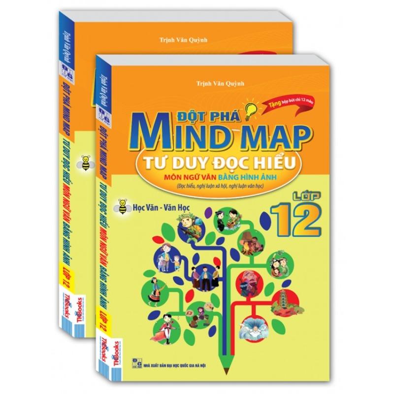 Mua Đột phá mind map-Tư duy đọc hiểu môn ngữ văn bằng hình ảnh lớp 12.