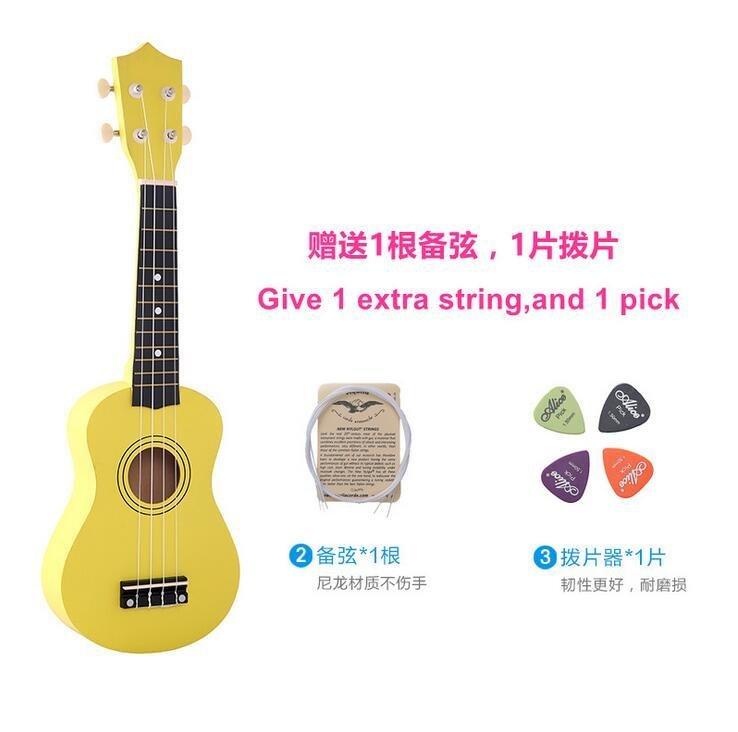 ... (Free Bag+Spare String+Triangular Plectrum) 21 Inch 12 Colors Soprano Ukulele ...