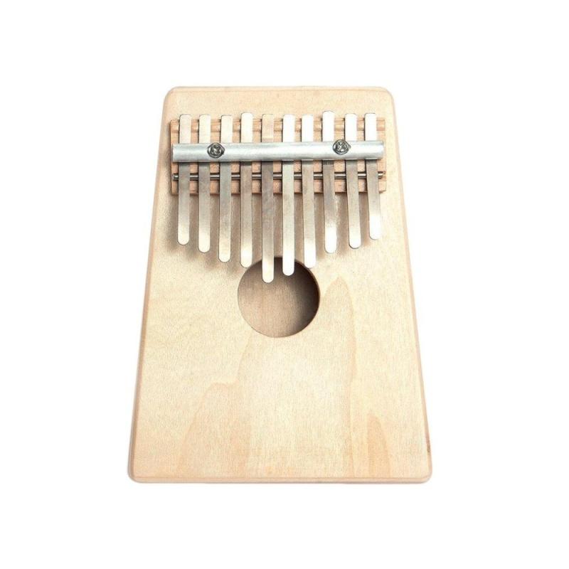 GOOD 10 Key Finger Mbira Kalimba Thumb Piano Mini Pine Wood Percussion Instrument wood color - intl