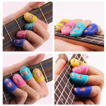 Guitar Fingertip Protectors Silicone Finger Guards Fingerstall
