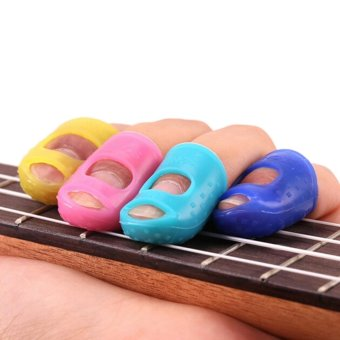 Guitar Thumb Picks Bass Finger Picks Plectrum Band Mix ColorLiparite 3PCS 20*28MM - Int