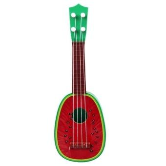 HLY 4 String Christmas Birthday Childrens Gift Mini Fruit Guitarukuleleeducational Musical Instrument Kids Funny Toy - intl