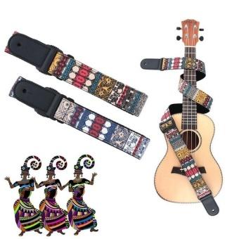 HLY Ajustable Sturdy And Wearable Ukulele Hot Sale Chinese Styledesignpurified Cotton Knitting Ukulele Shoulder Strap Musicalinstrumentsaccessories - intl
